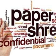 Confidential Paper shredding word cloud
